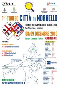 Locandina Top12 Tennistavolo Norbello 08.09-12-2010