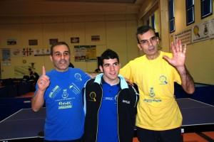 da sx Peppe Mele, Romano Monni e Augusto Sau (Foto Alex Monni)